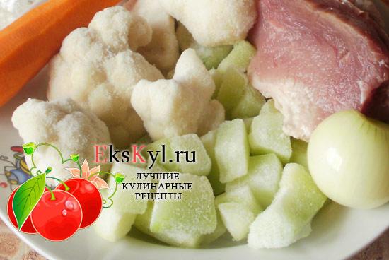 ингредиенты для рагу из свинины
