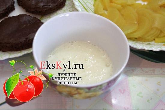 йогурт для шоколадного пирожного