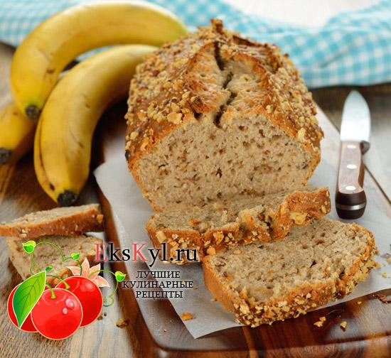 Рецепт бананового-хлеба