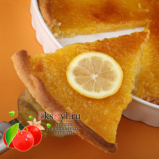 Рецепт лимонного-пирога в мультиварке
