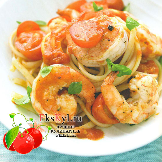 рецепт спагетти с кеветками