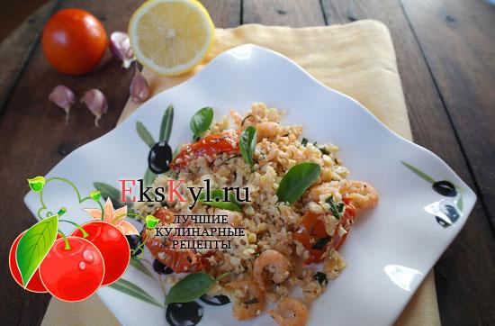постные салат с креветками рецепты с фото