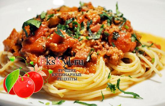 спагетти с мясом в мультиварке