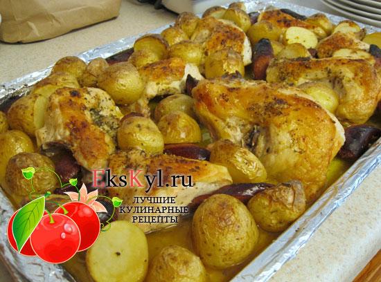 Рецепт приготовления курицы с картошкой