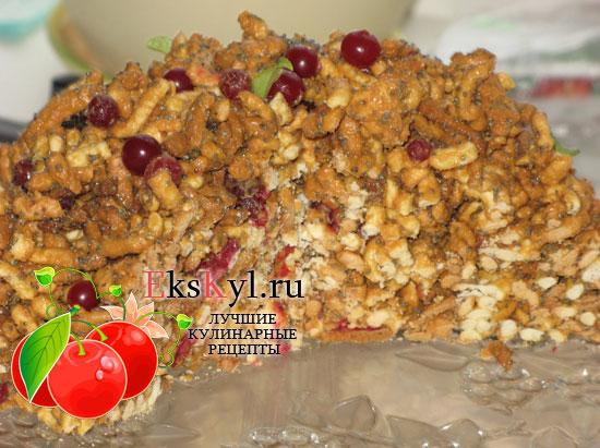 Торт муравейник из печенья и сгущенки
