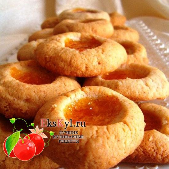 Печенье на скорую руку с вареньем