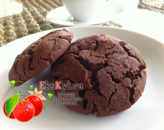 Приготовление шоколадного печенья