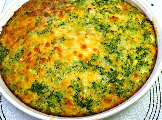 брокколи запеченная в духовке с сыром и яйцом