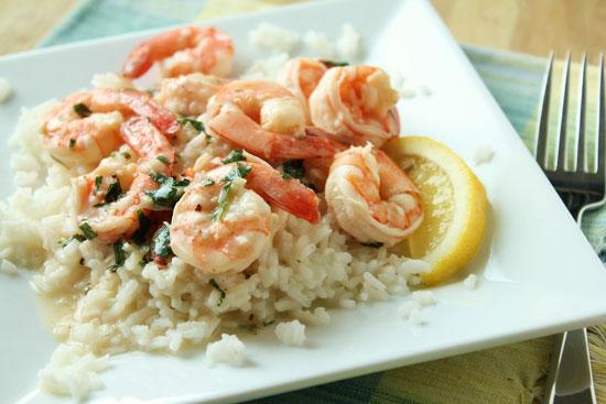 Рецепт риса с креветками и овощами