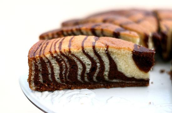 Приготовление торта Зебра в мультиварке