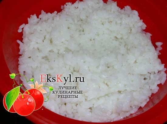 рис отварить до полуготовности