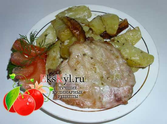 рецепт картошки с курицей в духовке