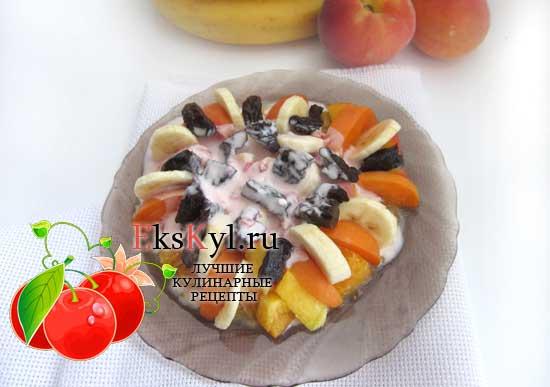 Фруктовый салат рецепт с йогуртом