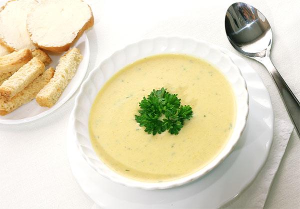 рецепт с фото сырного супа с грибами и курицей