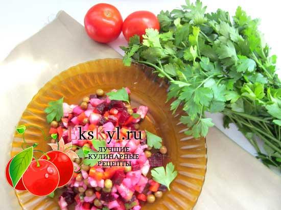 Салат винегрет, рецепт приготовления