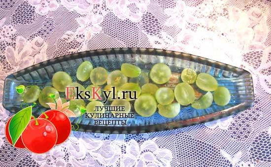 виноград выложить слоем