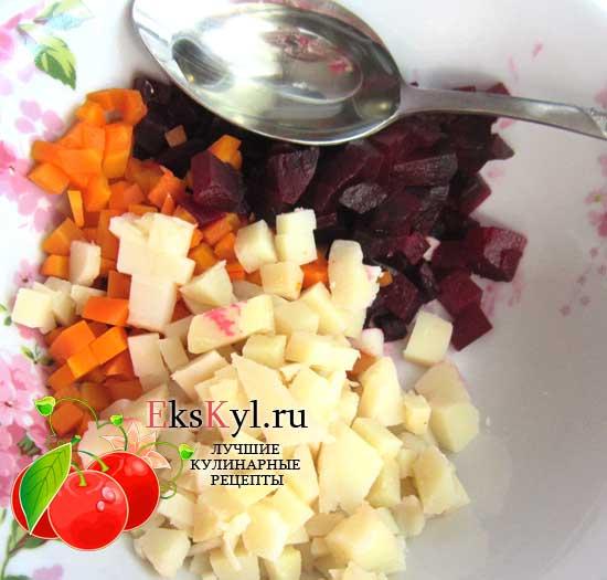 польем свеклу растительным маслом