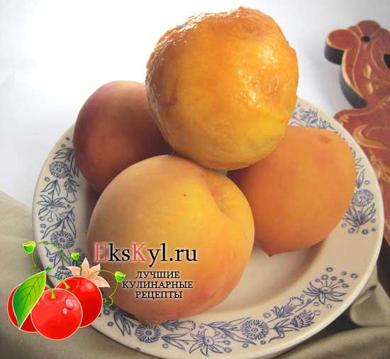 Снять кожицу с персиков