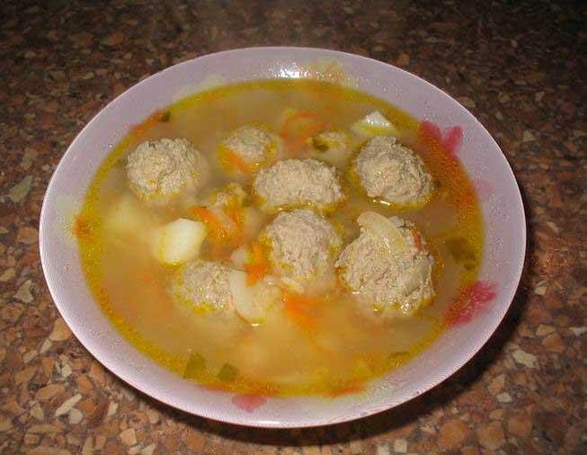 Рецепт тефтелей без риса в суп на