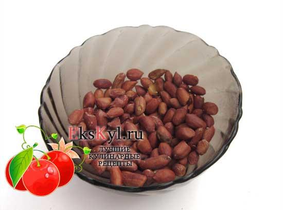 Поджарьте арахис в шелухе
