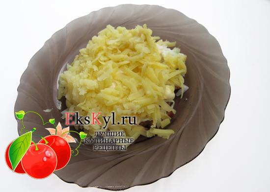 Выложите слоем картошку