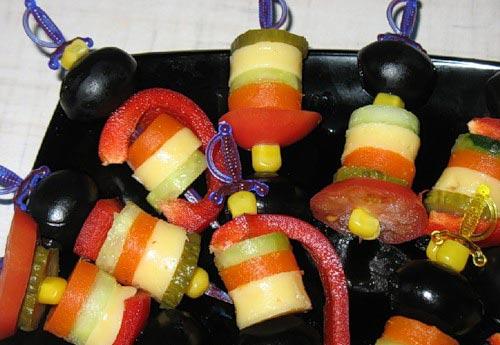 канапе с оливками