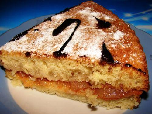 Бисквитный торт с джемом 05