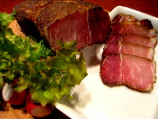 рецепт бастурмы из свинины