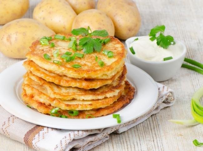 картофельные деруны с мясом рецепт