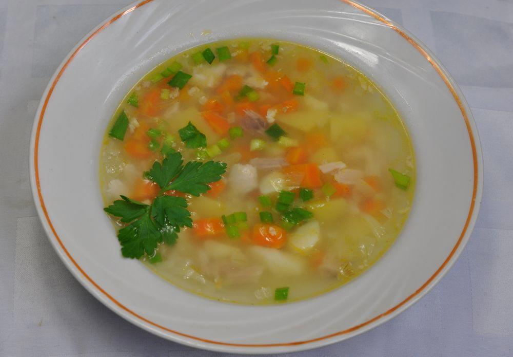 рисовый постный суп
