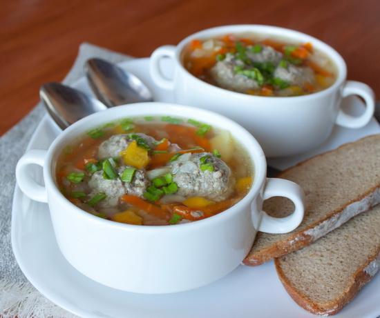 суп с фрикадельками приготовление