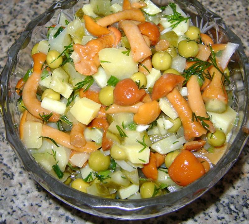 Салаты с грибами маринованными рецепты с фото пошагово