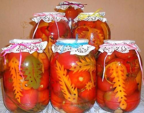 томаты в яблочном соке на зиму