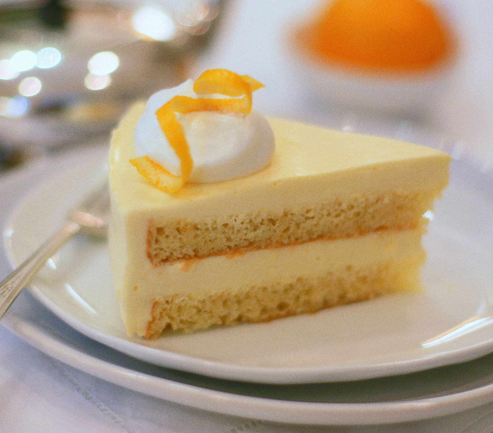 Chamomile Cake With Pineapple Curd