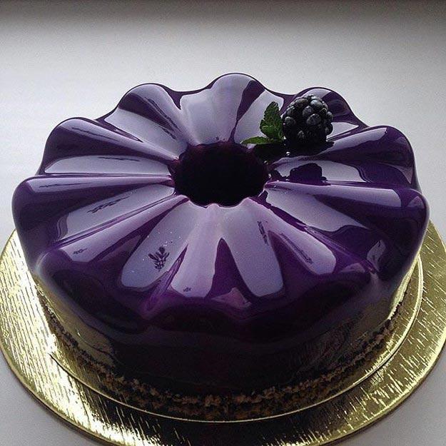 зеркальный торт на новый год