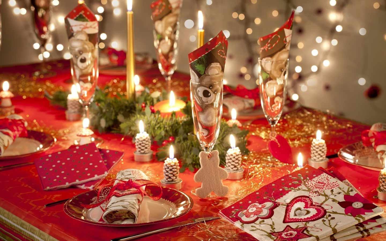 Новогодние украшения для стола своими руками фото