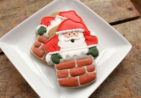 печенье новогоднее санта