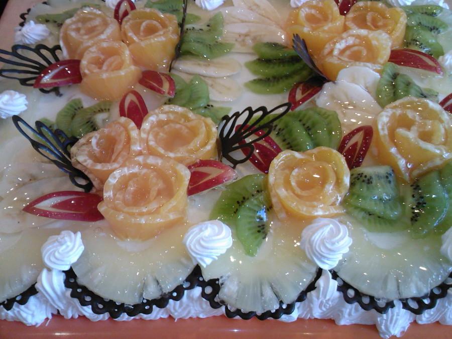 новогодний торт тропиканка
