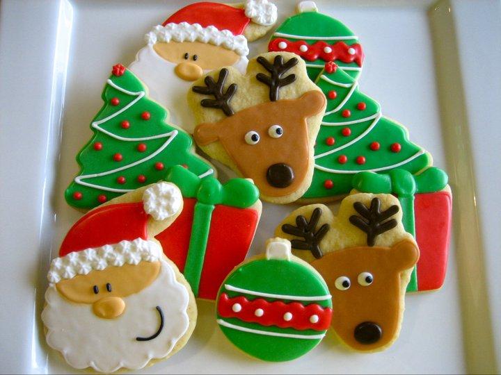 печенье елочки на год петуха