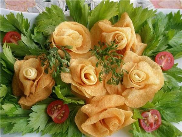 картофельные розы