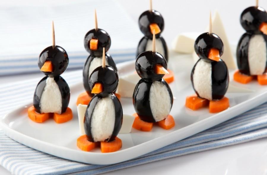 канапе пингвины