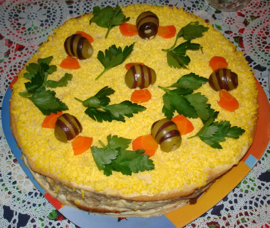 Салат пчелка рецепт пошагово