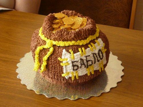 торт мешочек с подарками на новый год