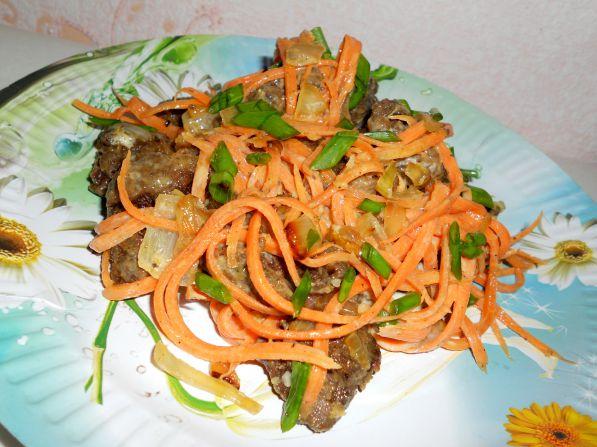 Куриная печень с морковкой и луком рецепты