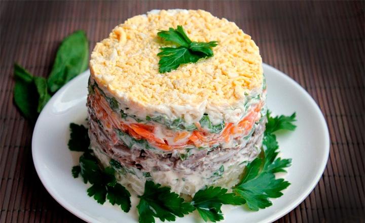 Вкусные слоёные салаты рецепты с