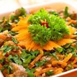 острый печеночный салатик