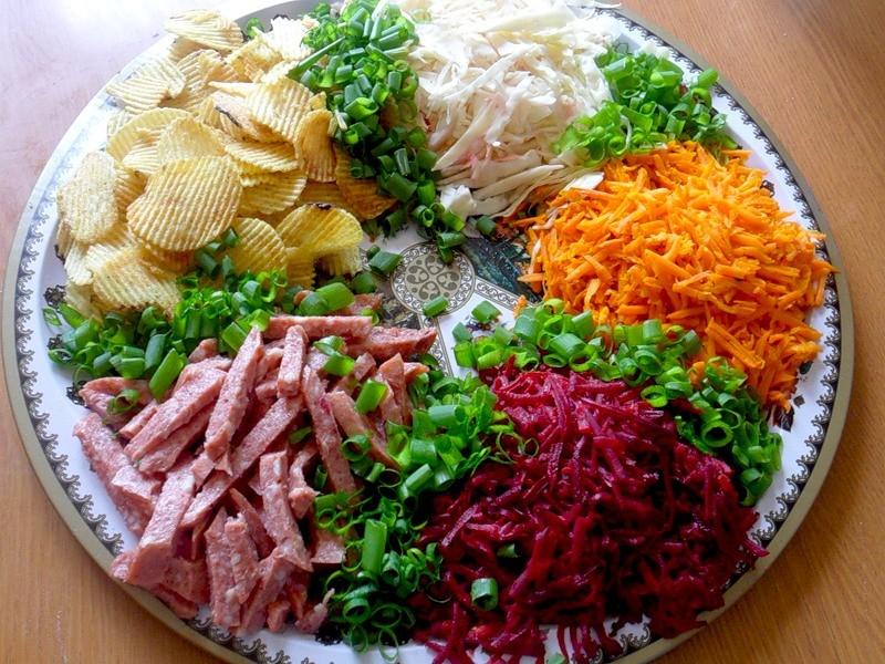 примечательно салат дорожка рецепт с фото пошагово выполнена строгой форме